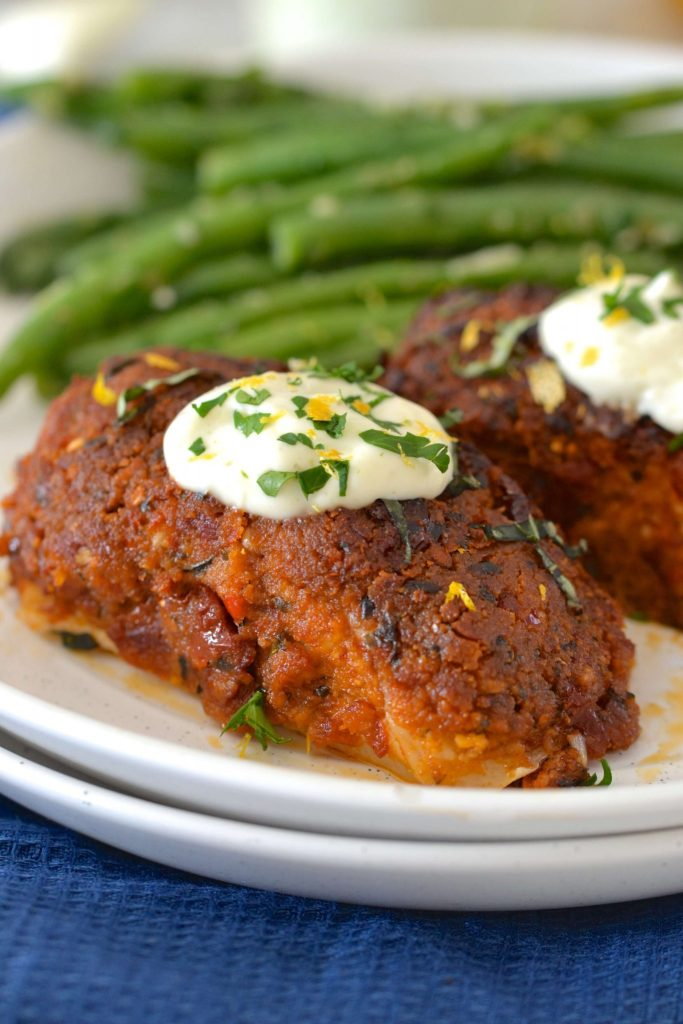 Sundried Tomato Crusted Halibut