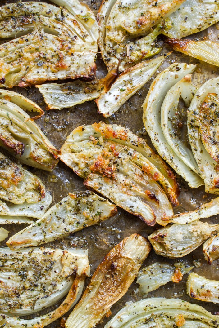 Oven roasted fennel with herbs and garlic
