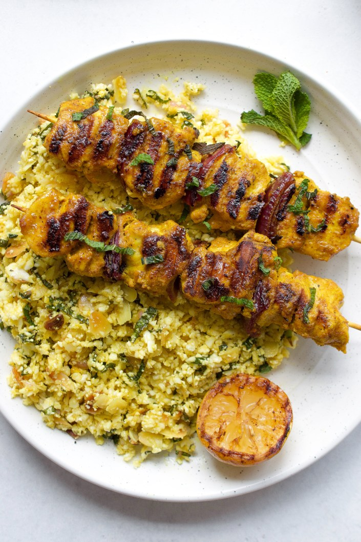 Moroccan Chicken Skewers With Cauliflower Couscous Every Last Bite
