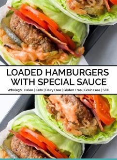 Loaded Hamburgers with Special Sauce