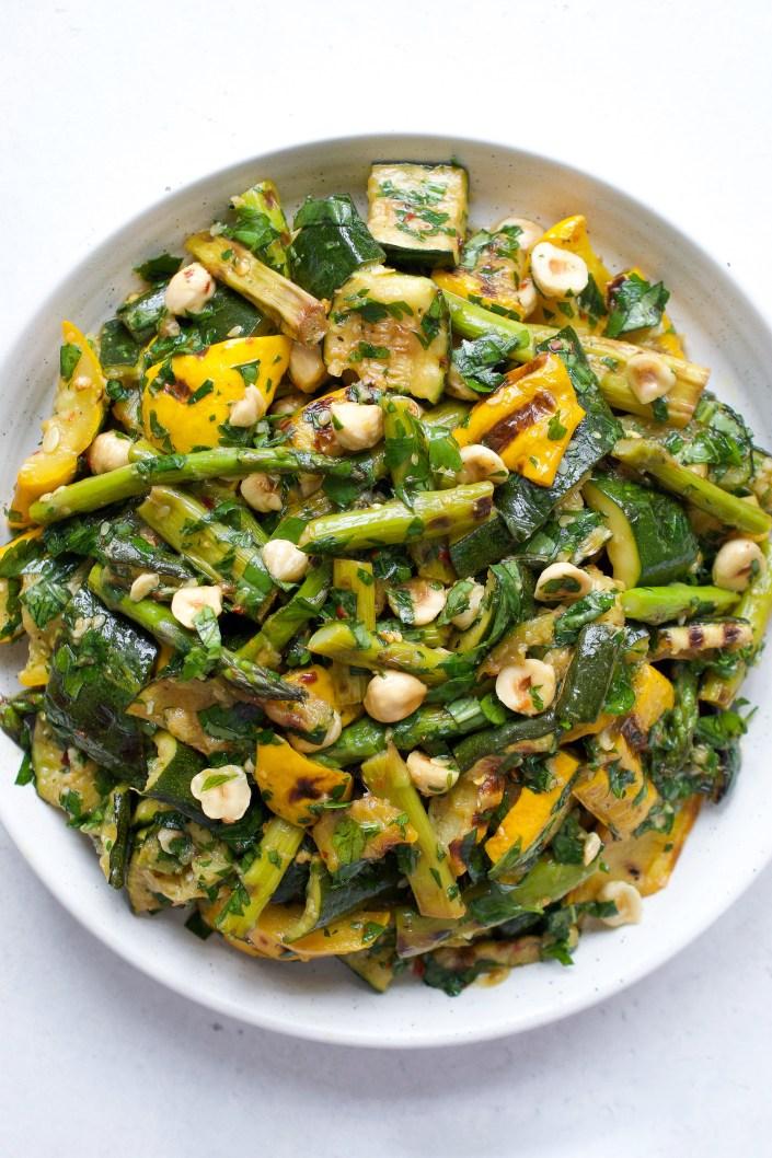 Grilled Zucchini & Asparagus Salad