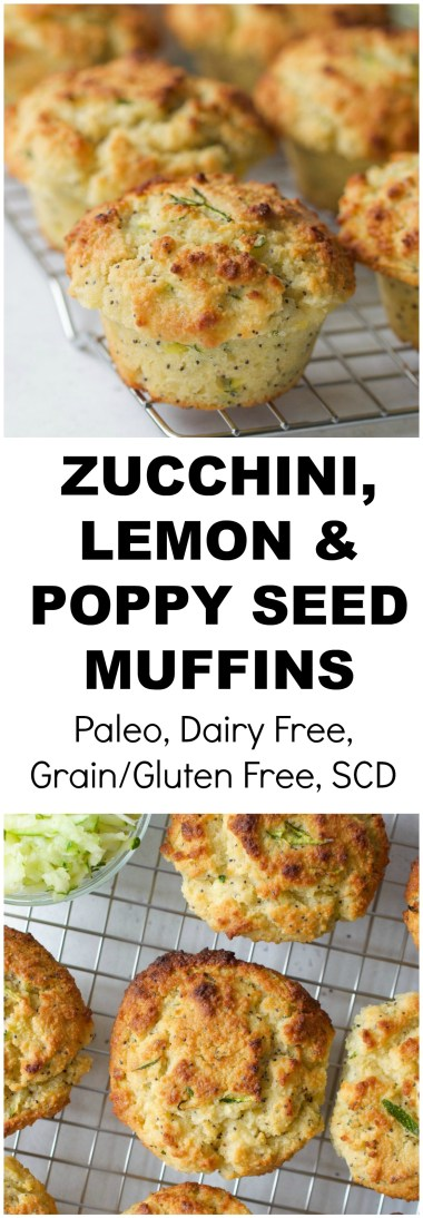 Zucchini, Lemon, Poppy Seed Muffins