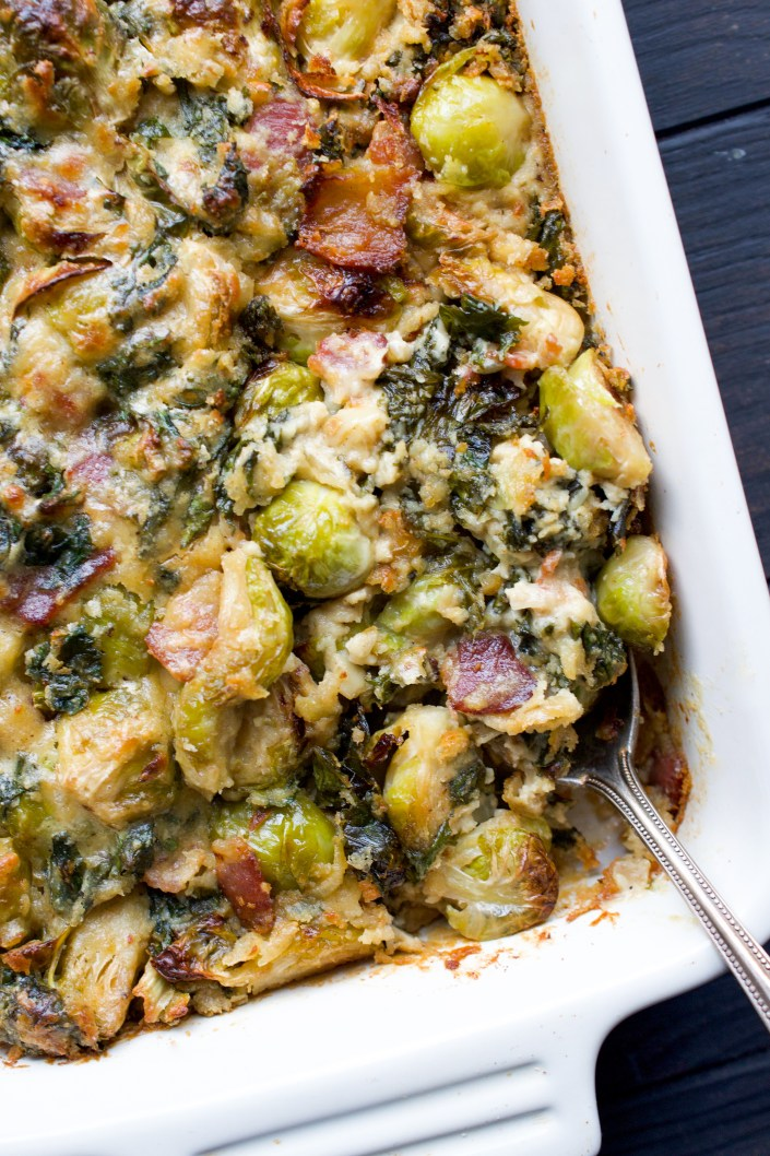 Whole30 Brussels Sprout Gratin
