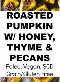 Roasted Pumpkin with Honey, Cinnamon & Thyme