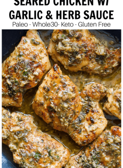 Chicken Thighs with Garlic Herb Sauce | Every Last Bite