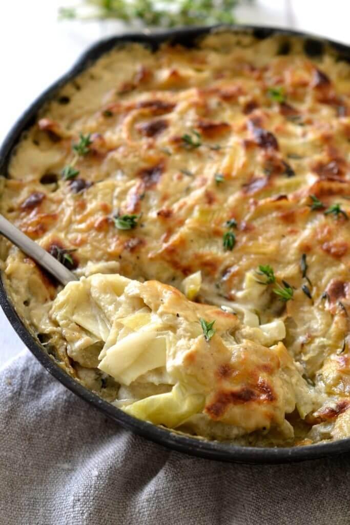 Caramelized Leek, Fennel & Onion Gratin