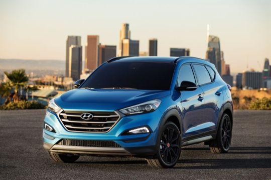 Hyundai Tucson NIGHT Model at 2016 SEMA Show on Everyman Driver, Dave Erickson