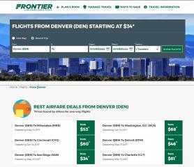 Frontier Flights to Denver