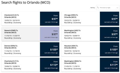 two column fares list
