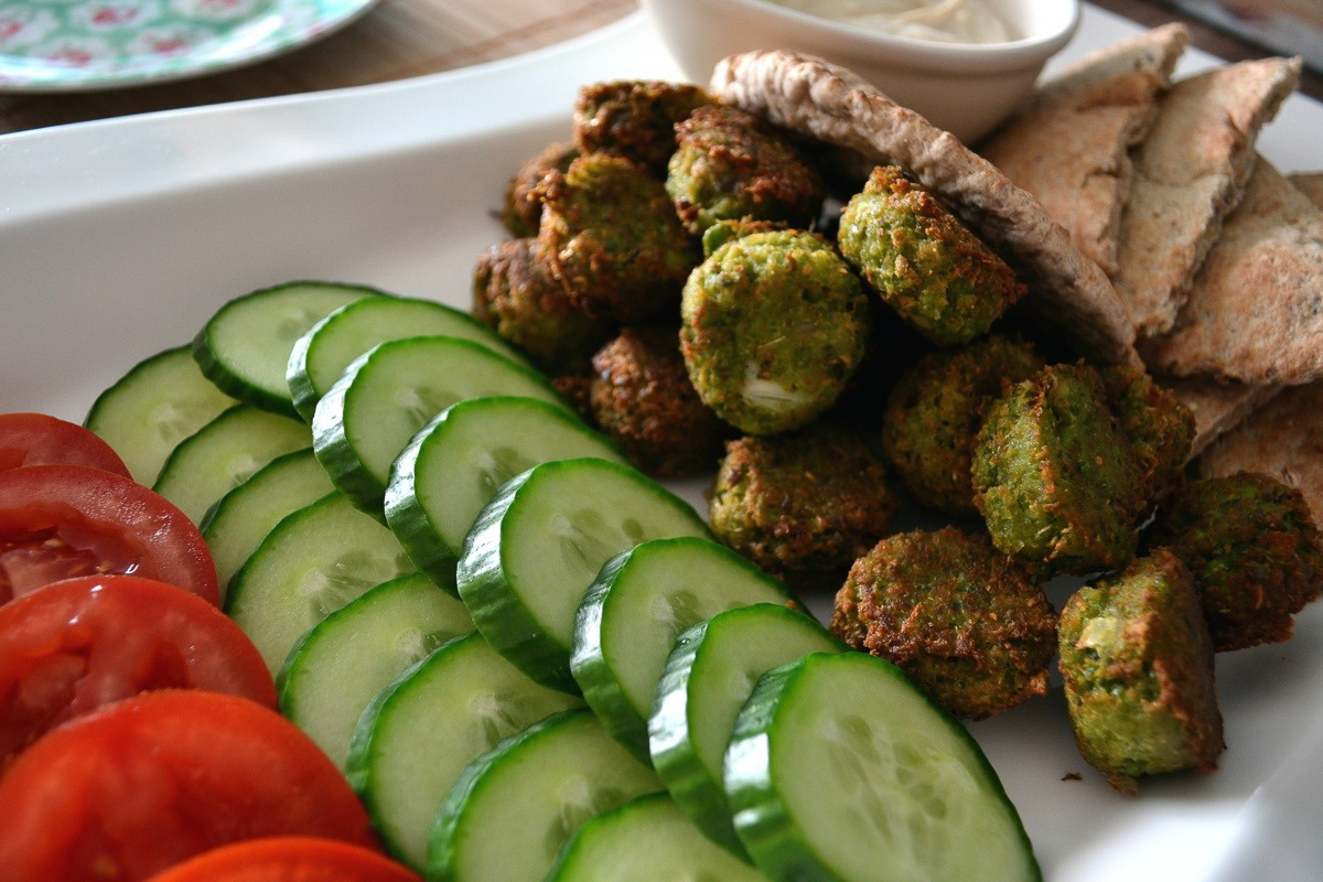 Pea and edamame falafel - so much better than the chickpea version