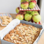 Apple Fudge Crumble Traybake
