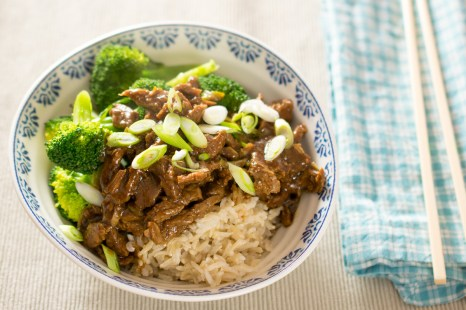 Beef with Broccoli and Brown Basmati