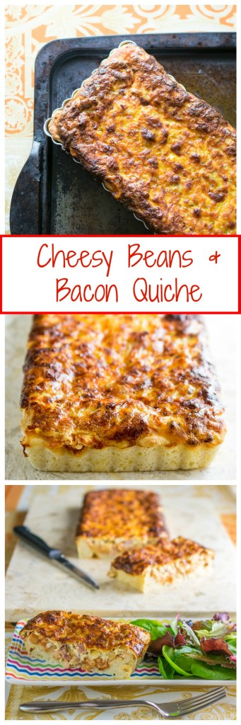 CHeesy +Beans & Bacon Quiche