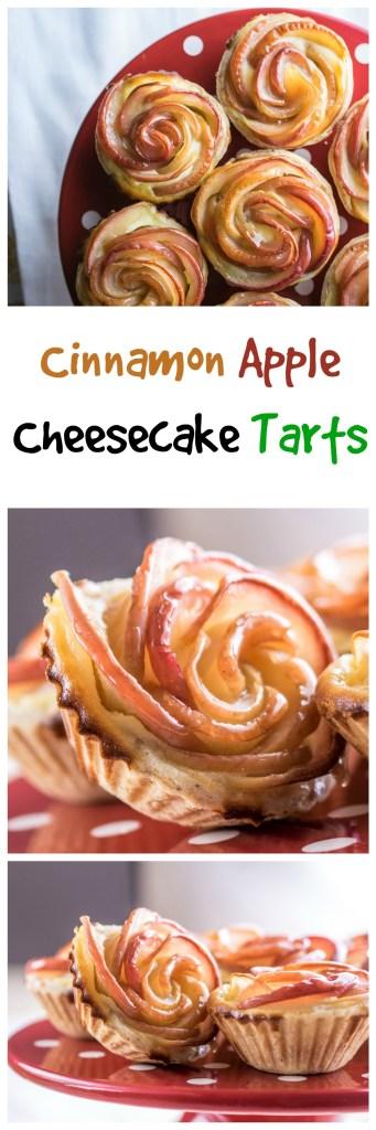 Cinnamon Apple Cheesecake Tarts