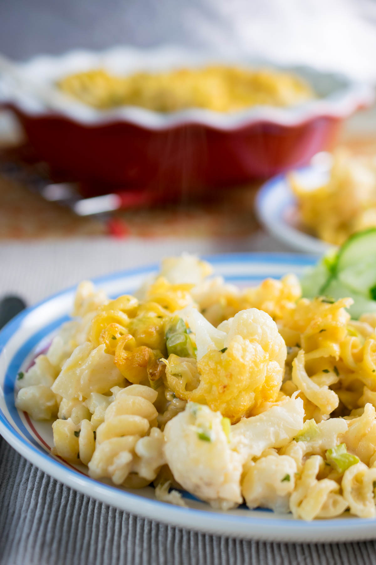 buffalo cauliflower pasta bake_-2