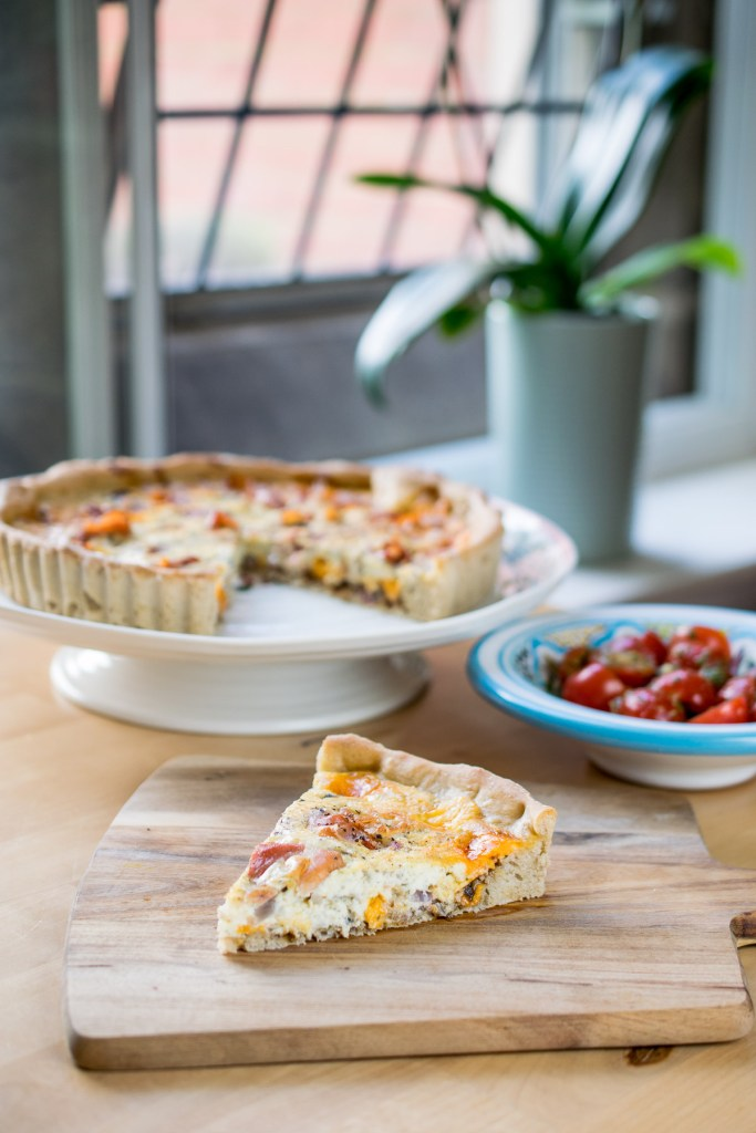 Ham, Cheese & Pickle Quiche-3