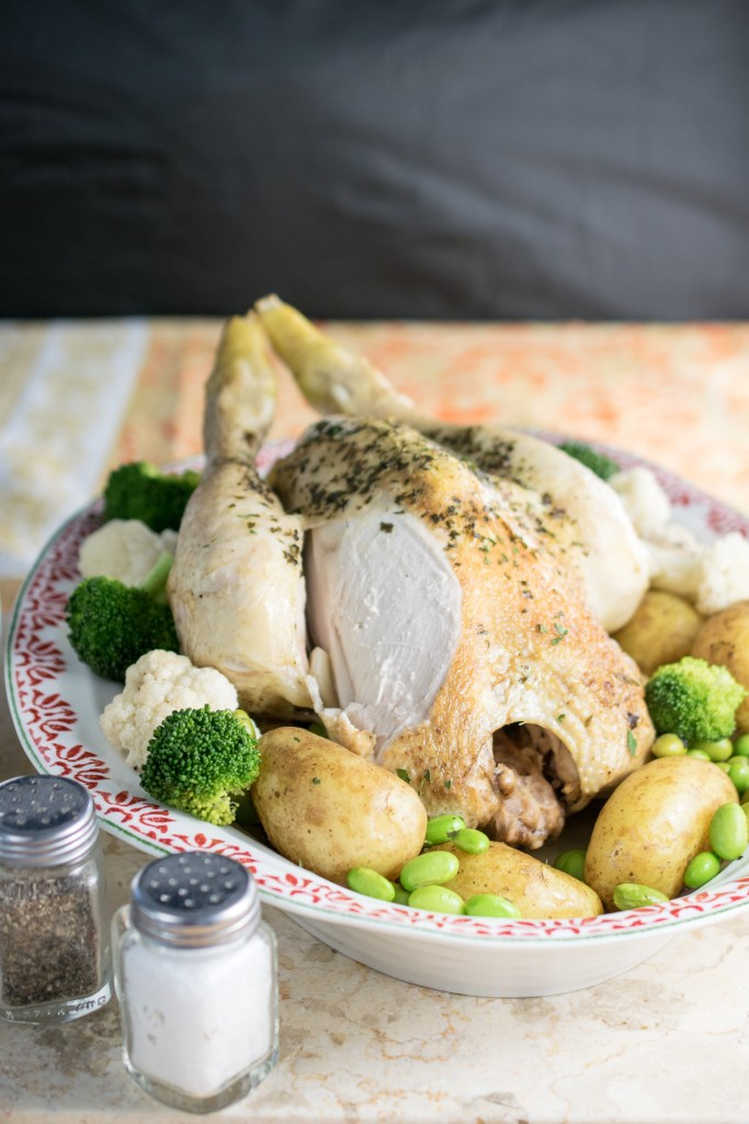 instant pot roast chicken dinner-4