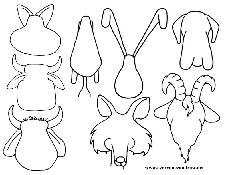 100 Animal Shapes To Trace Yasminroohi