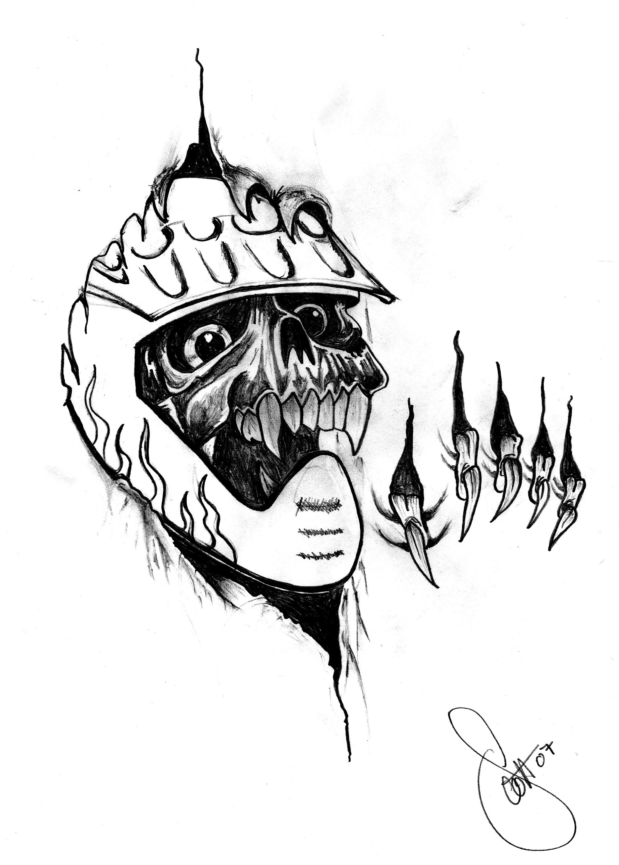 Skull Moto X Tattoo Picture