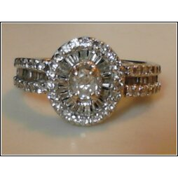 Stamp On Vintage Engagement Ring