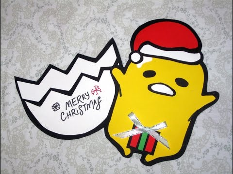 DIY Gudetama Christmas Card Everything 4 Christmas
