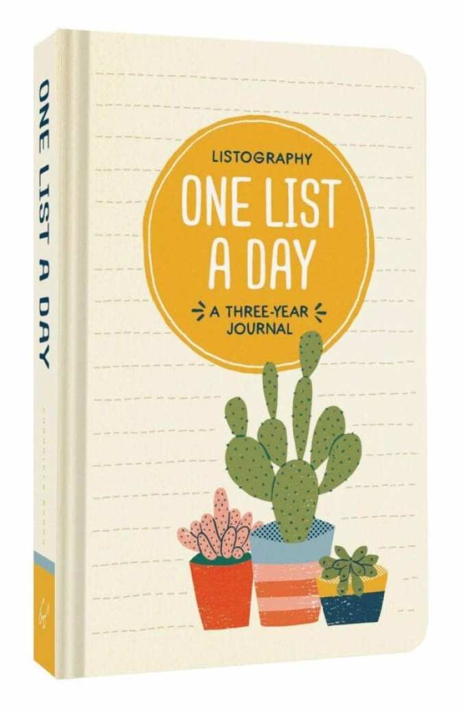 Listography One List a Day A Three Year Journal - Everything Abode