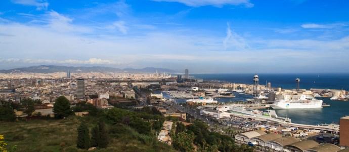 Blick vom Montjïc über den Hafen
