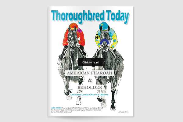Thoroughbred Today magazine Jan2016