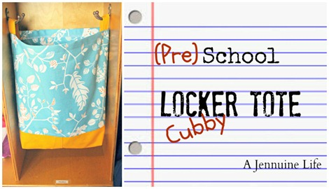 Back to School Locker Tote Tutorial