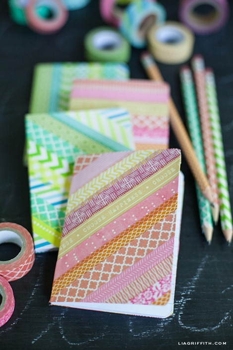 Washi Tape Notebooks