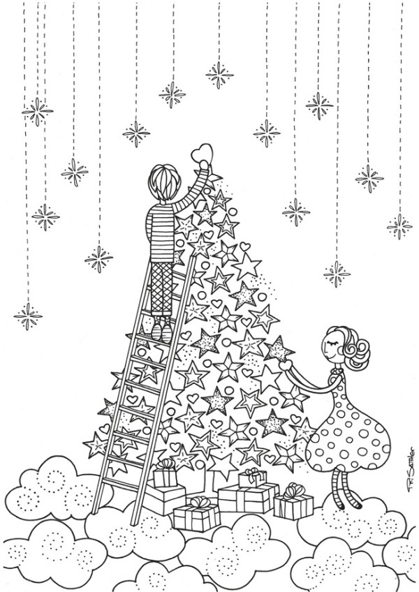 coloring christmas pages # 42