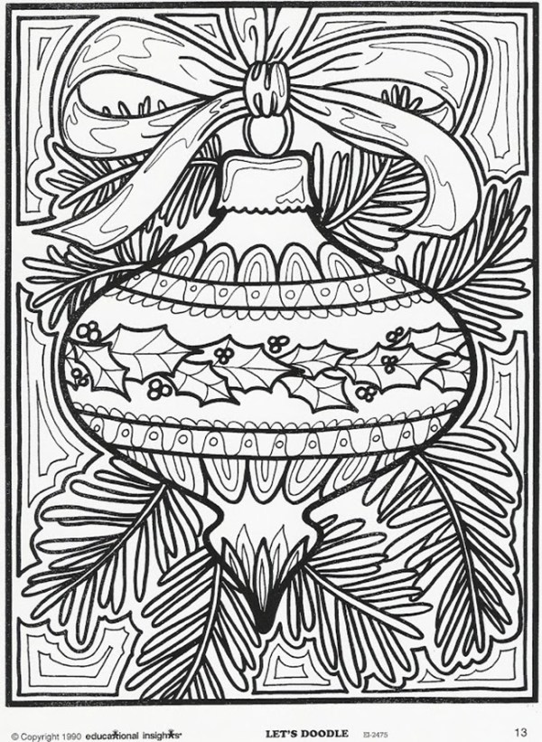 adult christmas coloring pages # 9