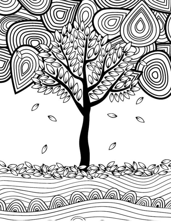 fall coloring pages printable free # 12
