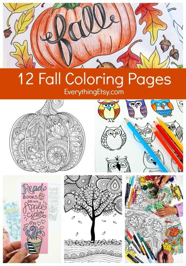 12 free adult coloring pages for fall everythingetsy com