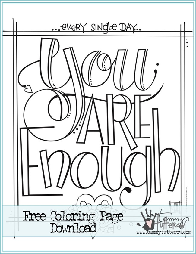 12 Inspiring Quote Coloring Pages for Adults–Free ... | free printable positive quotes coloring pages