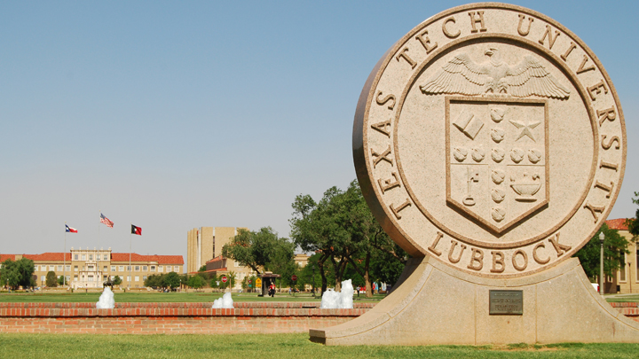 Texas Tech University Seal Statue - 720 v2
