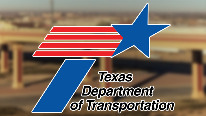 TxDOT Texas Department of Transportation logo over MSF Marsha Sharp Freeway 720