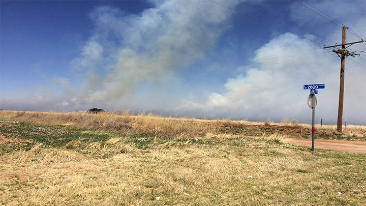 Grass Fire in Northern Lubbock County (5-5-18) - 720