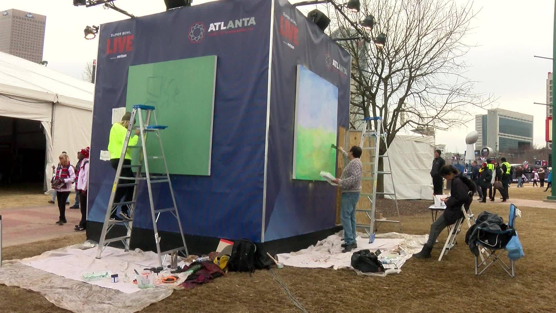 Atlanta artists create new work the week of the big game