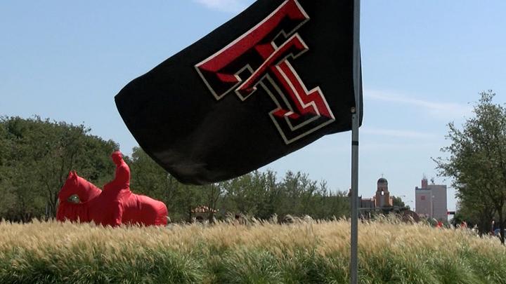 Texas Tech University TTU flag on campus 720