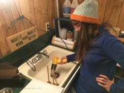 DIY Homemade Slanted Lapidary Grinding Wheel First Cut - NateBerends.com - 0105-45-171217