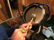 DIY Homemade Slanted Lapidary Grinding Wheel First Cut - NateBerends.com - 0117-07-171217