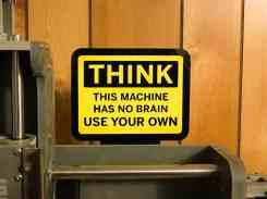 Laser Stickers-1 No Brain Think