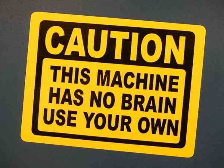 Laser Stickers-3 No Brain Caution