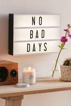 no-bad-days-light-box