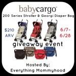 Baby Cargo 200 Series Stroller and Georgi Diaper Bag – ends 6/28