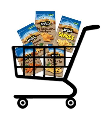 mccain potatoes cart