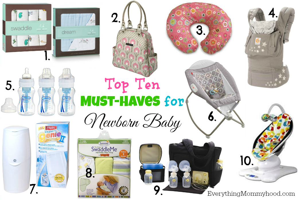 8b7ccae5c Top Ten Must-Haves for Newborn Baby - Everything Mommyhood