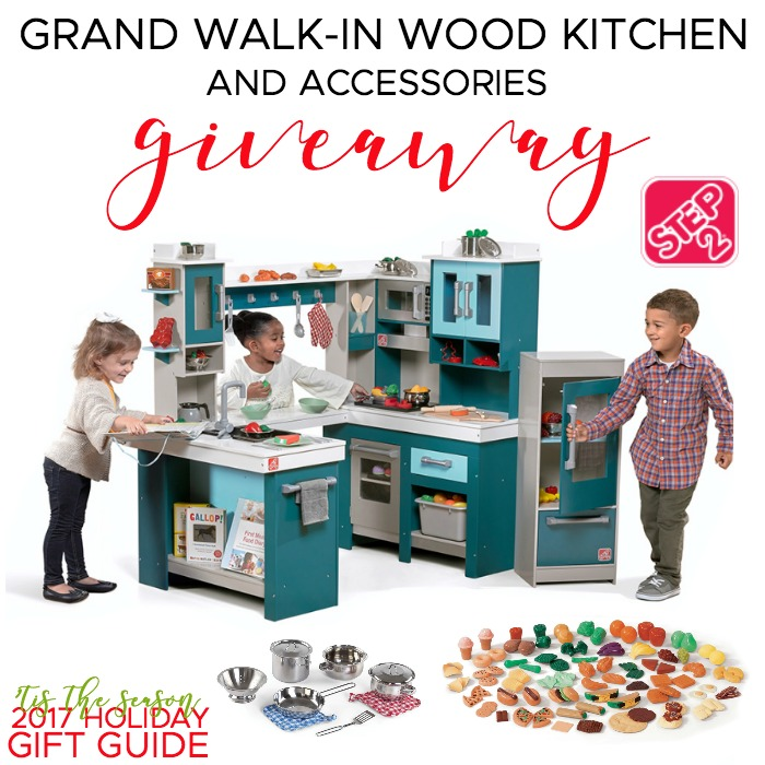 Step2 Grand Walk-In Wood Play Kitchen & Accessories Giveaway ...