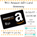 Ring in the New Year $50 Amazon Gift Card Giveaway – ends 1/5